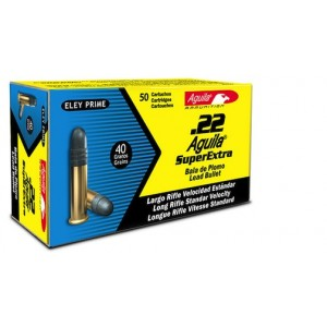Aguila Super Extra .22 Long Rifle Round Nose, 40 Grain (50 Rounds) - AGUA1B222332