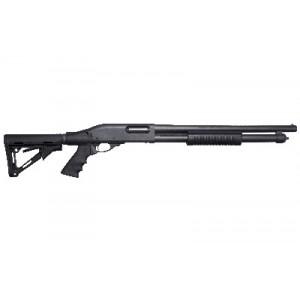 "Remington 870 Tactical, Pump Action, 12 Gauge, 3"" Chamber, 18.5"" Cylinder Barrel, 6 Position Collapsible Magpul Ctr Stock, Hogue Pistol Grip, 6rd, Bead Sight 81212"