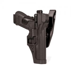 """Blackhawk Level 3 Serpa Right-Hand Belt Holster for Beretta 92 in Matte Black (5"""") - 44H104BK-R"""