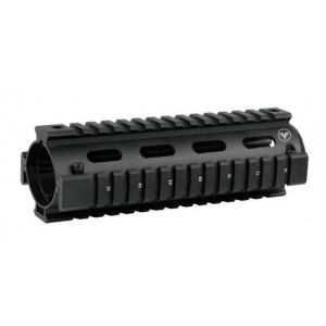 Firefield Quad Rail for M4 Carbine 2 Piece Aluminum Black Finish FF34001B