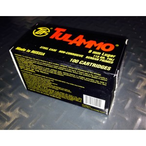 TulAmmo 9mm Full Metal Jacket, 115 Grain (100 Rounds) - TA919100
