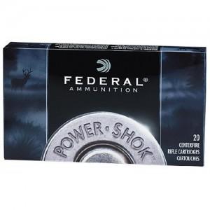 Federal Cartridge Power-Shok Medium Game 6mm Remington Soft Point, 100 Grain (20 Rounds) - 6B