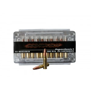 G2 Research RipOut .300 AAC Blackout Hollow Point, 110 Grain (20 Rounds) - RIPOUT 300AA