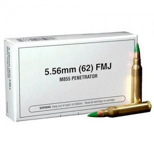 Winchester Best Value .223 Remington/5.56 NATO Full Metal Jacket, 62 Grain (20 Rounds) - Q3269