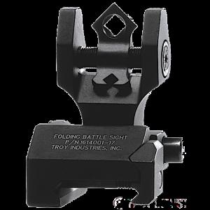 Troy DOARFBT00 Battle Sight Rear Di-Optic Aperture (DOA) Folding Universal Black