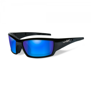 Wiley X - Tide Lens Color: Polarized Blue Mirror - Gloss Black