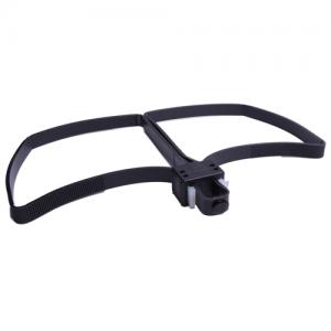 Flex Cuffs Foldable, Disposable Double Cuff Restraint, black