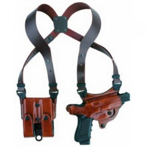 """Aker Leather 107 Flatsider XR7 Right-Hand Shoulder Holster for Sig Sauer P229 in Tan (3.9"""") - H107TPRU-SS 229"""