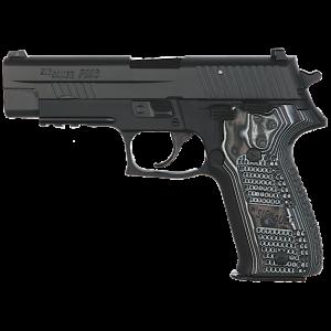 "Sig Sauer P226 Full Size Extreme .40 S&W 12+1 4.4"" Pistol in Black Nitron (Black/Grey Hogue G10 Extreme Grip) - E26R40XTMBLK"