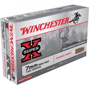Winchester Super-X 7mm Remington Magnum Power-Point, 150 Grain (20 Rounds) - X7MMR1