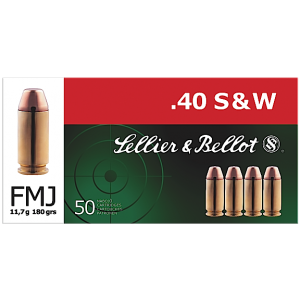 Magtech Ammunition .40 S&W Full Metal Jacket, 180 Grain (50 Rounds) - SB40B