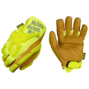 Commercial Grade Hi-Viz Heavy Duty Glove Size: Large Color: Yellow