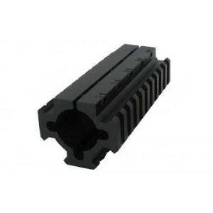 "Pachmayr Gun Works Inc TacStar Shotgun Rail Mount Long 4.1"" Black Finish 1081104"