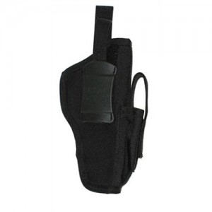Blackhawk Holster W/ Magazine Pouch Holster/Mag Pouch Combo in Black Textured Nylon - 40AM03BK
