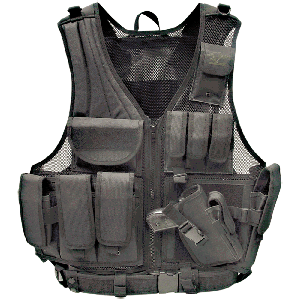 Galati Gear Tactical Vest in Nylon Black - Medium