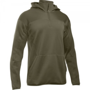 Under Armour Tactical Men's 1/4 Zip Hoodie in Marine OD Green - 2X-Large