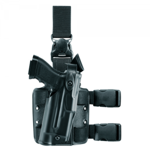 Safariland 6305 Als Tactical Gear System Right-Hand Thigh Holster for Glock 17 in STX Black Tactical (W/ Las-Tac 2) - 6305-832-131