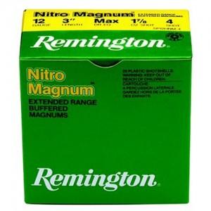 "Remington Nitro Mag Loads .12 Gauge (3"") 4 Shot Lead (250-Rounds) - NM124"