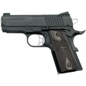 "Sig Sauer 1911 Compact Ultra Compact .45 ACP 7+1 3.3"" 1911 in Black Nitron (Blackwood Grip) - 1911U45BSS"