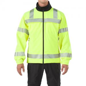 5.11 Tactical Reversible Hi-vis Softshell Men's Full Zip Jacket in High-Vis Yellow - X-Large