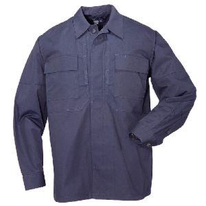 5.11 Tactical Ripstop TDU Men's Long Sleeve Shirt in Dark Navy - Small