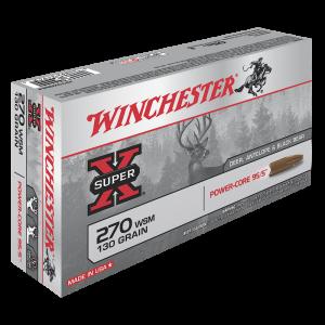 Winchester Super-X .270 Winchester Short Magnum Power Core, 130 Grain (20 Rounds) - X270WSMLF