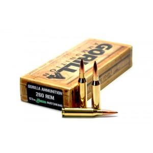 Gorilla Ammunition Company LLC Gorilla Ammunition .260 Remington Boat tail Hollow Point, 123 Grain (20 Rounds) - GA260123SMK