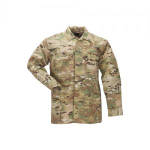 Multicam Tdu Shirt- Long Sleeve, Ripstop Size: X-Large