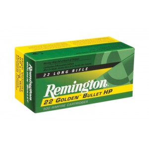 Remington Golden Bullet .22 Long Rifle Plated Hollow Point, 36 Grain (50 Rounds) - 1622