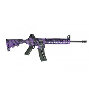 """Smith & Wesson M&P 15-22 .22 Long Rifle 25-Round 16.5"""" Semi-Automatic Rifle in Purple Platinum - 10041"""