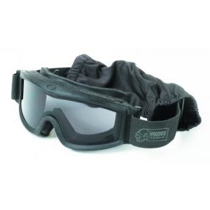 Voodoo Tactical Goggle Set (Black)