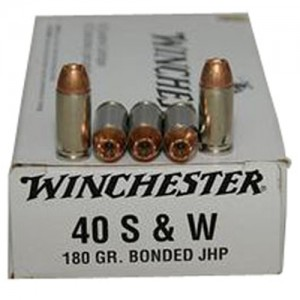 Winchester .40 S&W Jacketed Hollow Point Bonded, 180 Grain (50 Rounds) - Q4369