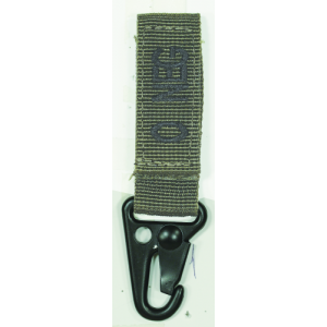 Embroidered Blood Type Tags with Velcro and Metal Clip Blood Type: O Neg Color: OD Green