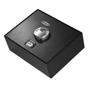 Barska Biometric Top Open Drawer Safe Fingerprint ID Elecetric Lock Steel Black Finish  AX11556