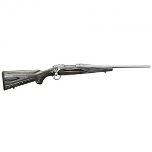 "Ruger M77 Hawkeye Compact .223 Remington/5.56 NATO 4-Round 16.5"" Bolt Action Rifle in Matte Stainless - 17107"