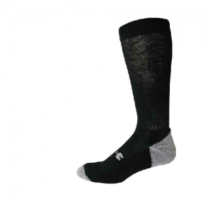 UA Men's ColdGear Lite Boot Sock Color: Black Size: Large