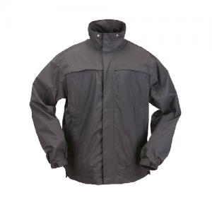 5.11 Tactical Dry Rain Shell Men's Full Zip Jacket in Black - Large