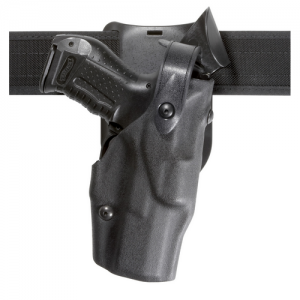Model 6365 Low Ride ALS Duty Holster w/ SLS Finish: STX Tactical Black Gun Fit: ig Sauer P229R Dasa (Spurred) With Light Rails (3.9  Bbl) Hand: Right - 6365-477-131