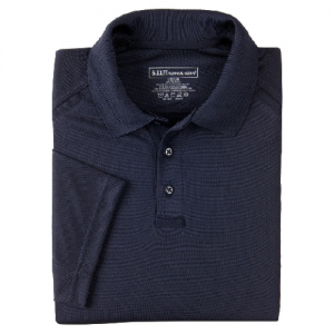 5.11 Tactical Performance Men's Short Sleeve Polo in Dark Navy - 2X-Large