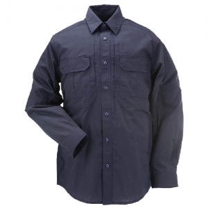 5.11 Tactical Taclite Pro Men's Long Sleeve Uniform Shirt in Dark Navy - 2X-Large