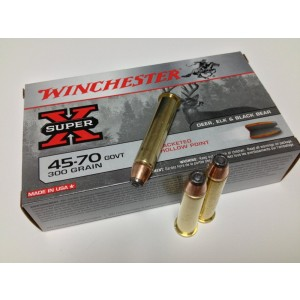 Winchester Super-X .45-70 Government Jacketed Hollow Point, 300 Grain (20 Rounds) - X4570H