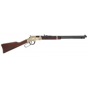 "Henry Repeating Arms Golden Boy Deluxe Engraved 3rd Ed. .22 Long Rifle 21-Round 20"" Lever Action Rifle in Blued - H004D3"