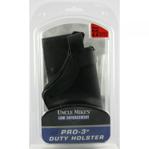 Size 22, Left Hand  Pro-3 Holster Mirage BW Black Slim Line Size 22, LH, Clam - 3522-6