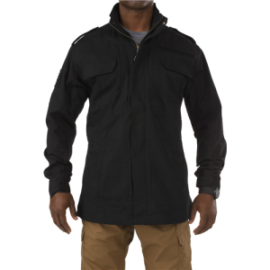 5.11 Tactical Taclite M-65 Men's Full Zip Jacket in Black - Medium