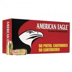 Federal Cartridge American Eagle 9mm Full Metal Jacket, 124 Grain (50 Rounds) - AE9AP