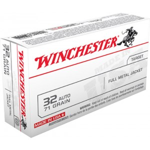 Winchester .32 ACP Full Metal Jacket, 71 Grain (50 Rounds) - Q4255