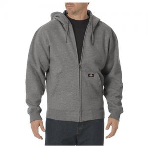 Dickies Midweigth Fleece Men's Full Zip Hoodie in Heather Grey - 3X-Large