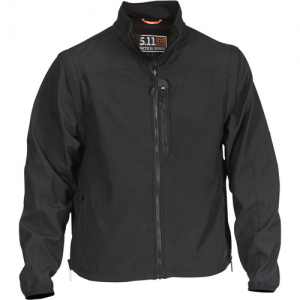 5.11 Tactical Valiant Softshell Men's Full Zip Jacket in Black - 2X-Large