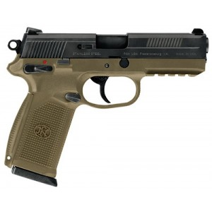 "FN Herstal FNS-9 9mm 17+1 4"" Pistol in Flat Dark Earth (Manual Safety) - 66937"