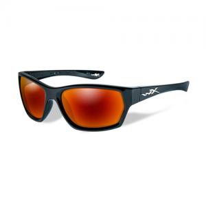 Wiley X - Moxy Glasses Lens Color / Frame Color: Polarized Crimson Mirror - Gloss Black